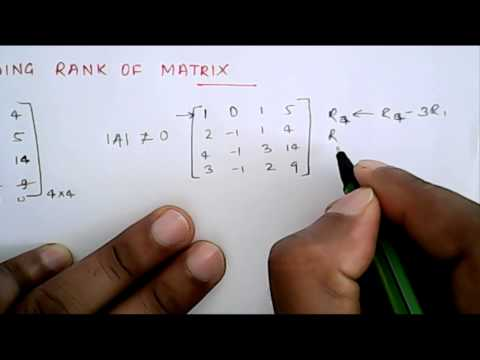 Mathematics: Finding Rank of Matrix