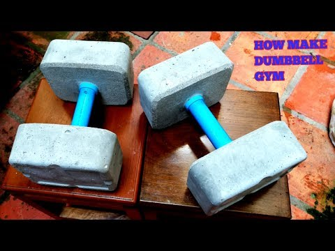 HOW TO MAKE A DUMBBELL AT HOME /PLASTICS BOX GYM HOMEMADE