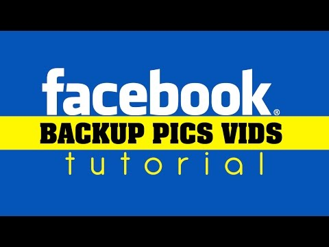 Backup Facebook photos, videos, and text (save your Profile Content)