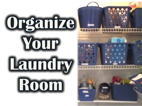 CHEAP LAUNDRY ROOM ORGANIZATION! | Dollar Tree