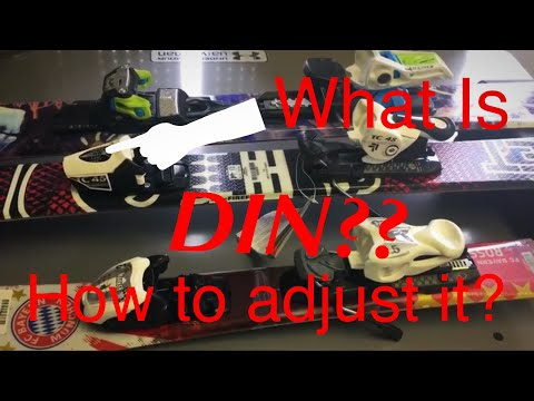 What Is DIN & How To Adjust It! Ski Bindings Tutorials