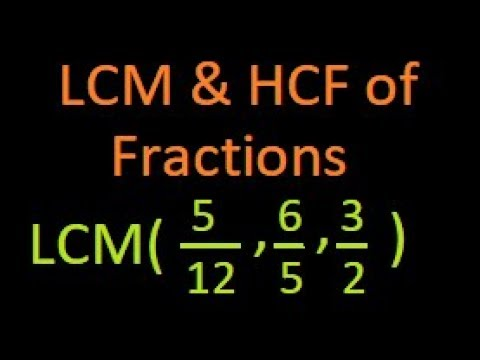 LCM and  HCF or GCD of Fractional or rational Numbers | IBPS | Bank PO