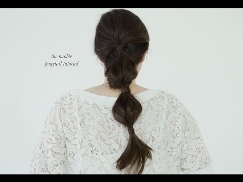 A bubbly ponytail hair tutorial