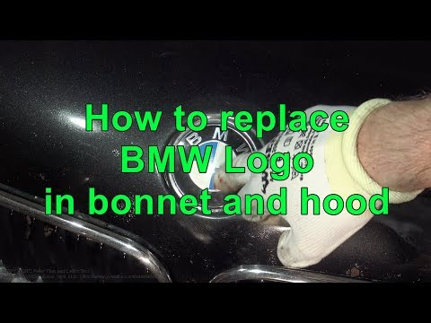 How to replace BMW Logo in bonnet and hood