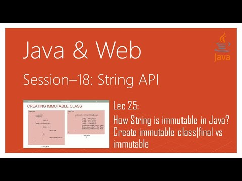 String API in Java |#25| How String is immutable in Java? Create immutable class|final vs immutable