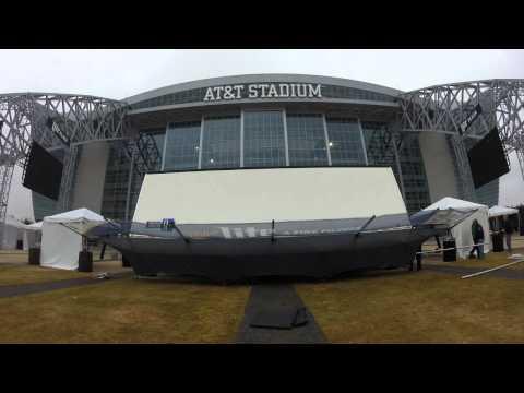 Dallas Cowboys Miller Lite stage setup time-lapse at AT&T Stadium