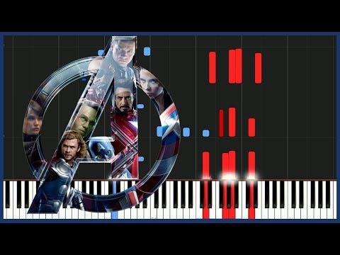 Avengers Theme - Infinity War [Piano Tutorial] (Synthesia) // Piano Man