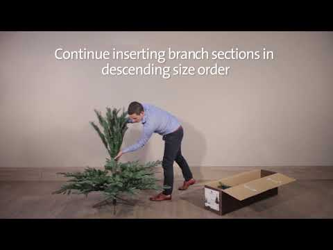 UK Christmas World Everlands Nobilis Fir Artificial Christmas Tree Assembly Video