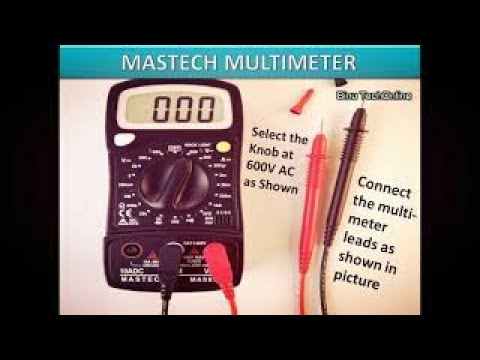 How to check earthing with multimeter