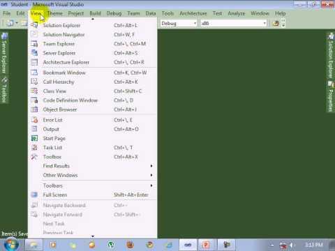 Visual Studio 2010  tutorial Create Two table Relationship