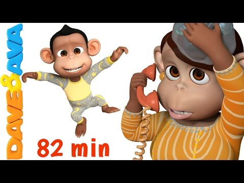 Five Little Monkeys Jumping on the Bed   Nursery Rhymes Collection from Dave and Ava
