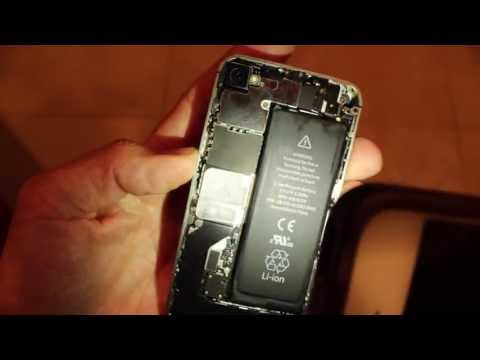 Apple iPhone 4S Water Damage Sensor Sticker Indicator Locations