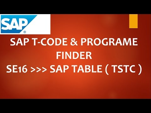 HOW TO GET ALL SAP T-CODES AND SAP PROGRAMME  (SAP TCODE FINDER)