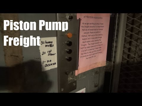 Vintage Rotary Piston Pump Freight Elevator @ Younkers, Lindale Mall - Cedar Rapids, IA