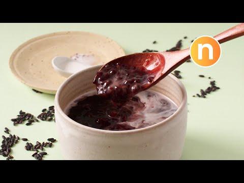 Black Glutinous Rice with Coconut Milk | Pulut Hitam | Black Rice Dessert | 黑糯米 [Nyonya Cooking]