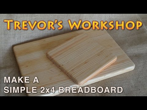 make a super simple breadboard from a 2x4