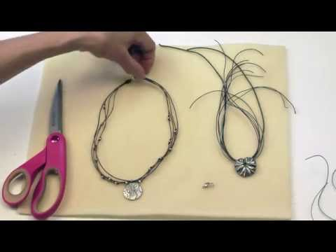 Antelope Beads - Using a Coil Knot to Finish a Multi Strand Necklace Tutorial Video