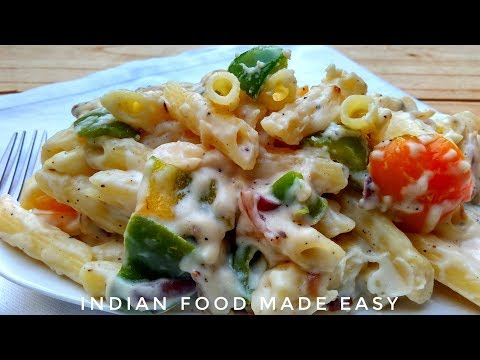 White Sauce Pasta Recipe in Hindi by Indian Food Made Easy