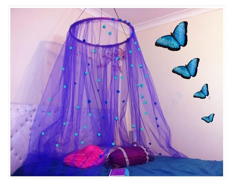 DIY Canopy in 15 minutes/Easy to make bed canopy perfect for small girls