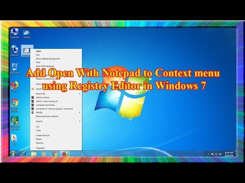 how to add open with notepad to context menu using registry editor