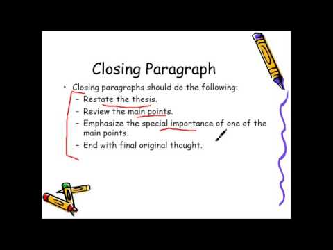 Closing Paragraph for Literary Analysis Essay