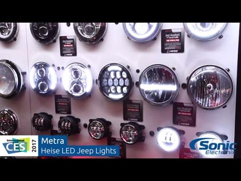 Metra Heise LED Jeep Lights   CES 2017
