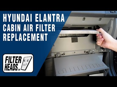 How to Replace Cabin Air Filter Hyundai Elantra