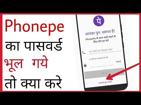 Phonepe ka password bhul jane par kya kare | how to forget/reset phonepe password in hindi