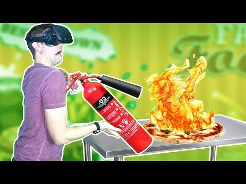 CHEF ACCIDENTALLY SETS FAST FOOD RESTAURANT ON FIRE IN VR! - Order Up VR HTC VIVE Gameplay