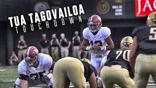 Watch Tua Tagavailoa's incredible scrambling TD play to DeVonta Smith