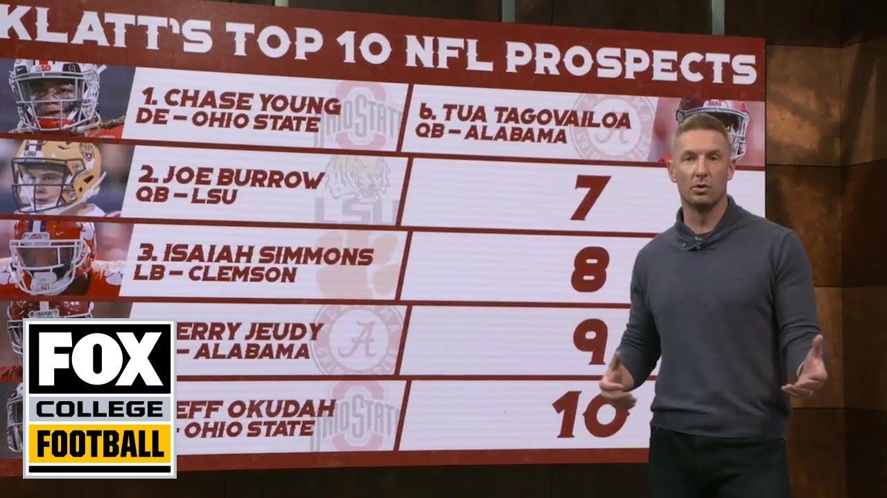 Joel Klatt's top ten NFL Prospects of 2020   CFB ON FOX