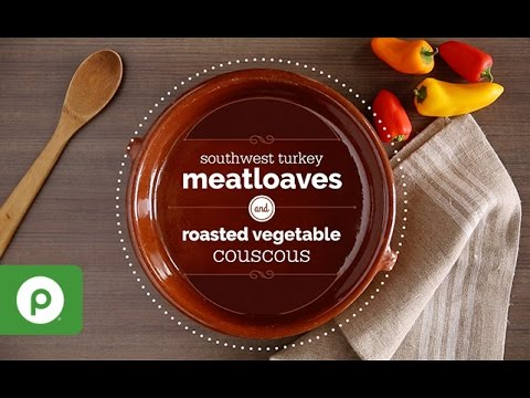 Southwest Turkey Meatloaves and Roasted Vegetable Couscous