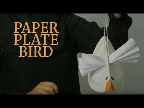 Paper plate bird - Art Corner | CABTV