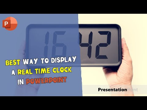 Best Way To Display a Real-Time Clock in PowerPoint