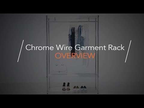 Chrome Wire Garment Rack - Overview