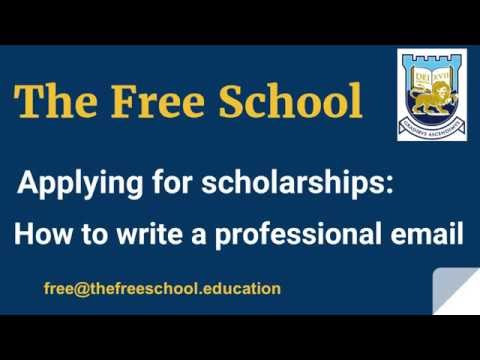 Scholarship applications : how to write a professional email