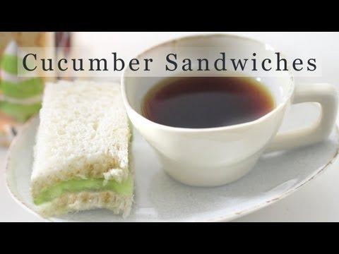 Cucumber Sandwich Recipe - Tea Sandwiches 오이 샌드위치 만들기