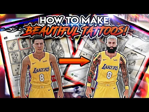 NBA 2K18 HOW TO MAKE THE BEST TATTOOS! (BEAUTIFUL TATTOOS! TATTOO SLEEVE TUTORIAL!)