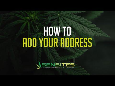 How to Edit Your Dispensary Website Theme Address - Sensites