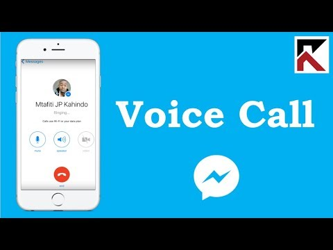 How To Voice Call Facebook Messenger iPhone