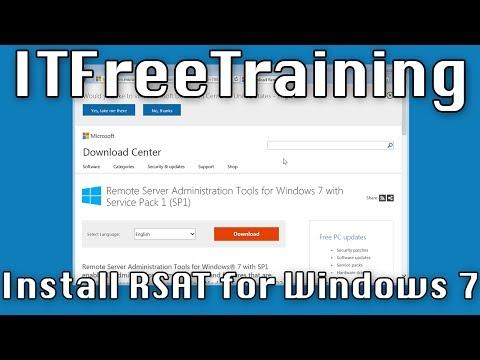 Installing RSAT on Windows 7
