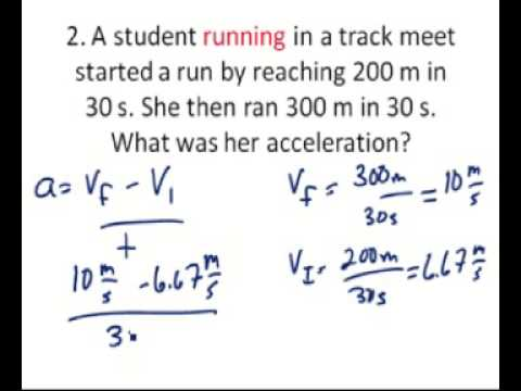 Solving problems for acceleration