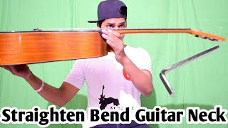 How to straighten guitar neck(HINDI), Increase guitar life, how to adjust action of guitar