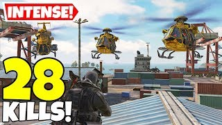 YANRIQUE VS HELICOPTER SQUAD IN CALL OF DUTY MOBILE BATTLE ROYALE!