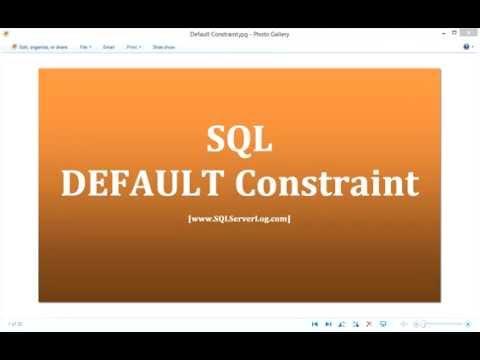28 - SQL DEFAULT Constraint - Learn SQL from www.SQLServerLog.com [HD]