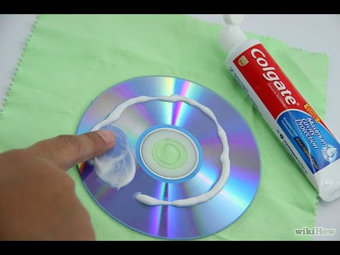 Remove Scratches Of A DVD or CD With Toothpaste.....it works 100%