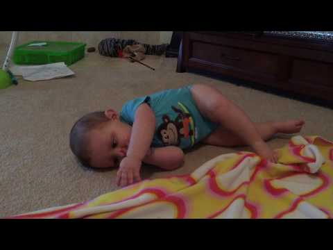 When do babies roll over | Cute baby rolling over and over and over
