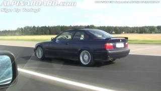 HD: ALPINA B3 3,2 Coupe vs BMW 540i E34 6-speed