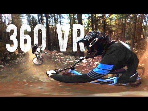 Whistler Bike Park In 360 VR // With HUGE Crash