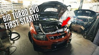 STARTING & REVING BIG TURBO EVO FOR THE FIRST TIME!